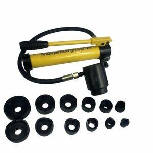 10T Hydraulischer Blechlocher Lochstanze Hydraulikpumpe Hole Punch Werkzeug Set