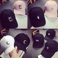 Men Women Peaked Baseball Cap HipHop Strapback Curved Snapback Hat Adjustable