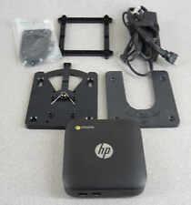 Hp J5N50Ut Chromebox 16Gb Ssd 4Gb Mini Desktop Computer w Mount & Power Hdmi