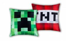 OFFICIAL MINECRAFT CRAFT REVERSIBLE FILLED CUSHION CREEPER RED TNT GREEN BLOCK