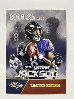 2018 Lamar Jackson NFL Rookie Card Limited Edition Mint Baltimore Ravens