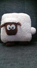 Hand knitted sheep cushion