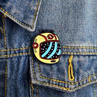 EB_ Abstract Openable Astronaut Helmet Skull Enamel Brooch Pin Badge Clothes Dec