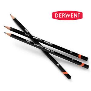 Derwent Graphic Drawing Pencils | Graphite Full Range Soft, Medium & Hard B - H