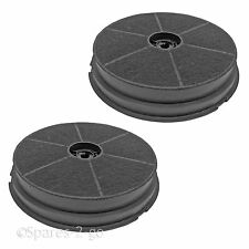 2 X CDA CST6 CHA5 Charcoal Cooker Hood Filter Carbon Round Anti Odour Filters
