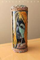 WOW! ITALIAN MID CENTURY MODERN MELIOR POTTERY! LAMP BODY GAMBONE ART VTG 50S 60
