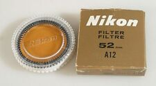 NIKON 52MM A12 FILTER W/CASE, NEW