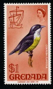 GRENADA SG318 1968 $1 BIRD DEFINITIVE MNH