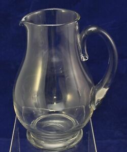 7 1/2 Inch Tall Modern Free Blown Glass Pitcher