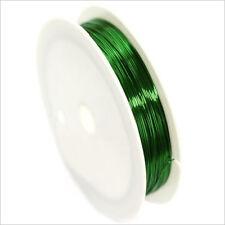 Fil de Cuivre 0,4mm – 17 mètres Vert pour Bijoux et Loisir Créatif