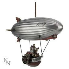 STEAM SHIP MARVELLOUS UNUSUAL BOX CEILING HANGING FIGUREINE MODEL RESIN NEW