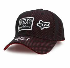 Road Riders Motorcycle Rider Inspired Narrow Brim Cap - FOX BLACK/RED