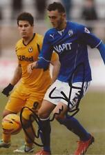 CHESTERFIELD: OLIVER BANKS SIGNED 6x4 ACTION PHOTO+COA