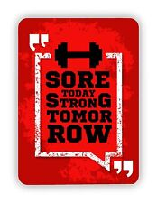 Sore Today Strong Tomorrow Workout GYM FITTNESS METAL SIGN PLAQUE Poster