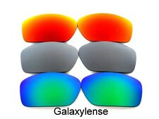 Galaxy Replacement Lenses For Oakley Scalpel Red&Titanium&Green Polarized
