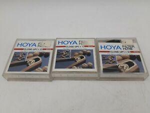 3x Hoya Close-up Filters +1 +2 +3. 52mm Thread.