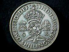 George VI 1938, Florin/Two Shilling, .500 Silver. Grade Very Fine.