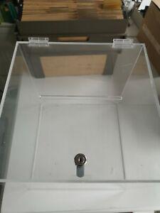 Spendenbox Losbox Aktionsbox  Einwurfbox Acryl 30x30 cm mit Schloß