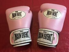 PRO MAIN EVENT PINK BOXING GLOVES 14 oz COMPOSITION LEATHER GREAT