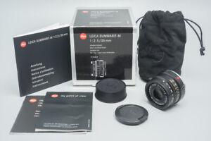 Leica Summarit-M 35mm f/2.5 E39 Lens (11643) Black, 6 BIT-Coded