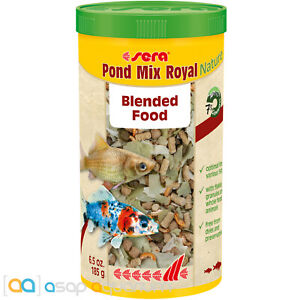 sera Pond Mix Royal Nature 1000mL All Natural Variety Food Blend for Pond Fish