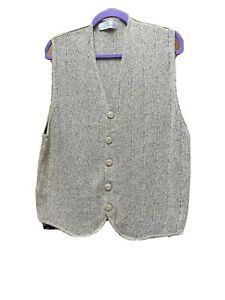 Men's Woollen Waistcoat From Marks & Spencer In Natural Colour Chest 38-40 VGC