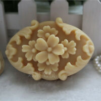 Oval Flower  Silicone Soap Candle Mold Soap Making Mould DIY Handmade Molds