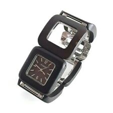 Fossil F2 Woman's Watch - ES-1653 Brown Wood, All Stainless Steel