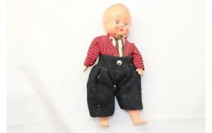 """Vintage Hard Plastic Doll 6"""" tall legs arms not attached"""