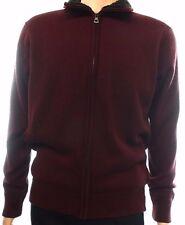 Weatherproof Sherpa Lined Sweater Jacket ,Color: Burgundy ,Size:M , MSRP 115 $