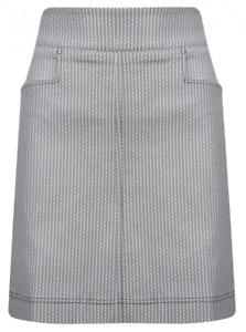 Nancy Lopez Golf Skort skirt Size 12 black white slimming stretch tummy control