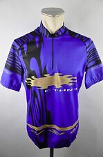 Nakamura Radtrikot Trikot cycling jersey maglia Gr. L Ethnic vintage Shirt C21