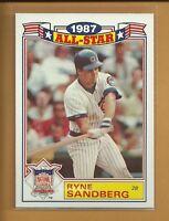 Ryne Sandberg 1988 Topps 1987 All-Star Insert Card # 14 Chicago Cubs Baseball