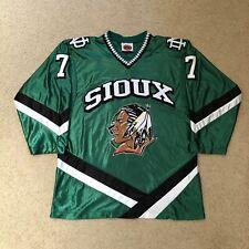 T.J. Oshie North Dakota Fighting Sioux NCAA Hockey Jersey Green Small K1 Hawks