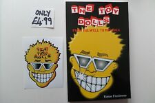 TOY DOLLS from fulwell to fukuoka RARE PUNK BOOK plus VINYL STICKER only £4.99