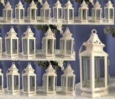 30 Victorian  Candle Holder White Small  Lantern Wedding Centerpieces - Set