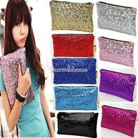 Sparkling Glitter Sequins Dazzling Clutch Evening Party Handbag Bling Bag Purse
