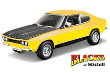 Bburago 1:32 Scale 1970 Mk1 Ford Capri RS2600 Yellow Diecast Model,RS3100,3000E