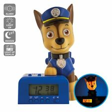 Bulb Botz Paw Patrol 2021302 Chase Kids Night Light Alarm Clock with Characte.