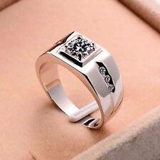 Hombre Elegante Anillos Príncipe Zircon Cristal Anillo Compromiso Ring ,mjn,k