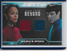 2017 STAR TREK BEYOND Uhura and Spock Costume Dual Relic Card DC2