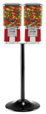 Pro Double Bulk Vending Machine and Stand - RED with GUMBALL/CANDY WHEEL