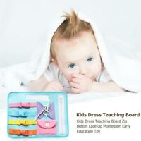 Kids Dress Teaching Board Zip Button Lace Up Montessori Early Education Toy