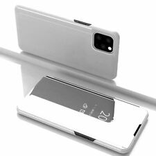 For iPhone 11 Flip Case Luxury Smart View Mirror Silver Stand Shockproof Cover