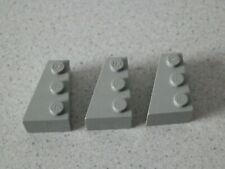 Lego 6565# 3x Flügelplatte Platte 3x2 Grau Alt Hellgrau 7190 10030