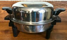 Lifetime Cookware Stainless Electric Casserole Skillet Liquid Core Dome Lid