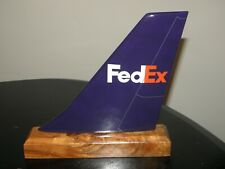 FEDEX FREIGHT AIRPLANE TAIL WOOD DESK MODEL AIRLINE PILOT COLLECTIBLE GIFT NEW !