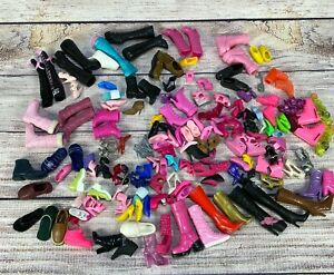 Lot of Vintage Barbie Boots, Shoes, Skates, Stilettos Various Colors Plastic