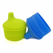 Silikids Siliskin Universal Silicone Sippy Cup Top - Set of 2