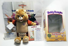 Vintage World of Wonder Teddy Ruxpin 1985 accessories Book Tape Poster more Mint